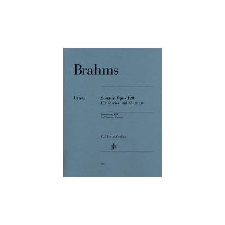 partition Brahms, sonates op.120 clarinette et piano