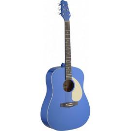 guitare acoustique Stagg western bleu clair
