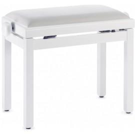 banquette de piano blanc satiné