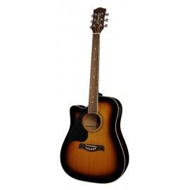 guitare electro-acoustique gaucher Richwood Sunburst