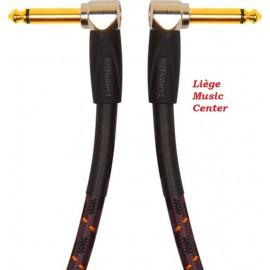 câble instruments Roland 15cm gold
