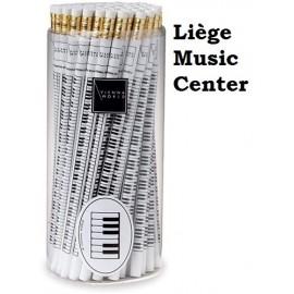 crayon touches de piano blanc