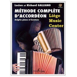 accordeon methode Galliano met CD