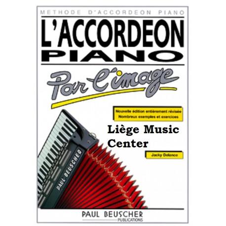 méthode accordéon piano par l'image Delance
