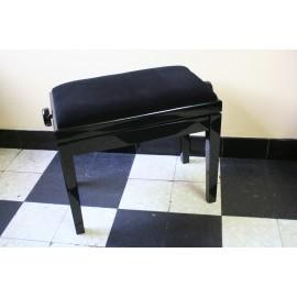 banquette de piano noir poli