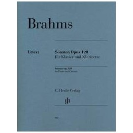 partition Brahms, sonates op.120 clarinette et piano