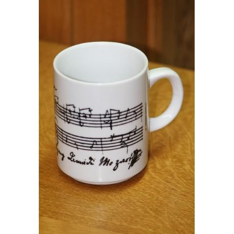 koffiemok Mozart partituur