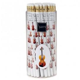 Bleistift Geige weiss