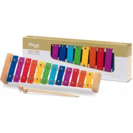 métallophone Stagg 12 touches colorées