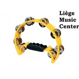tambourin demi lune (16 cymbalettes) jaune