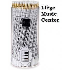 potlood pianotoetsen wit