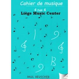 cahier de musique 12 portées DIN A4