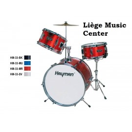 batterie Hayman junior rouge metalique (3 pieces)