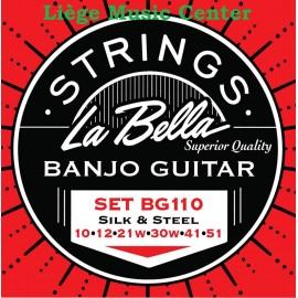 cordes banjo guitare La Bella 6 cordes extémités à boucle