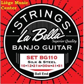 cordes banjo guitare La Bella 6 cordes à boule