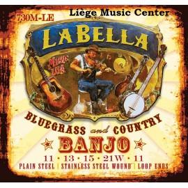cordes banjo La Bella 5 cordes medium extémités à boucle