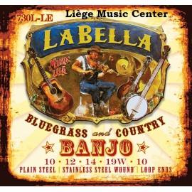 cordes banjo La Bella 5 cordes light extémités à boucle