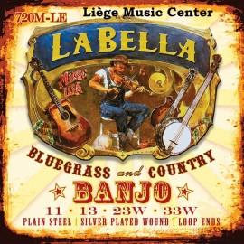 cordes banjo La Bella 4 cordes medium extémités à boucle