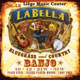 cordes banjo La Bella 4 cordes light extémités à boucle