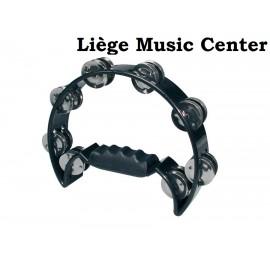 tambourin demi lune (16 cymbalettes) noir
