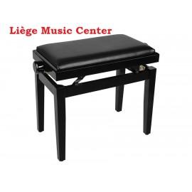 banquette piano Boston noir poli pelote skai noir