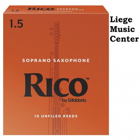 anches saxophone soprano Rico (force 1,5)