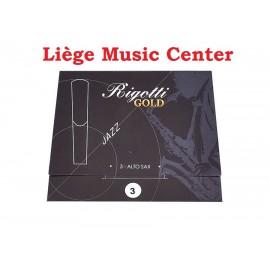 anches saxophone alto Rigotti Gold (force 3)