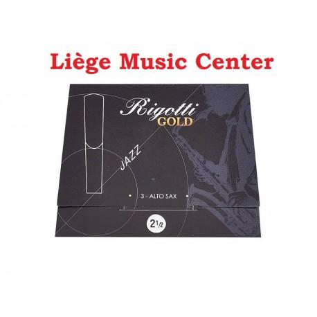 anches saxophone alto Rigotti Gold (force 2,5)