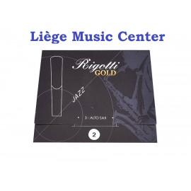 anches saxophone alto Rigotti Gold (force 2)