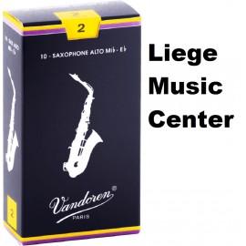 anches Vandoren pour saxophone alto (force 2)