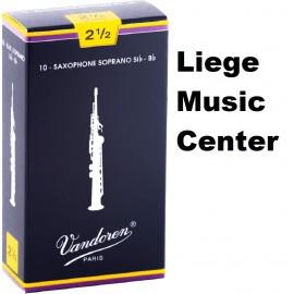anches saxophone soprano Vandoren (2,5)