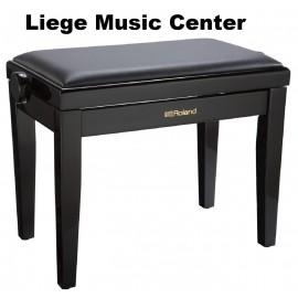 banquette piano Roland noir satiné pelote skai noir