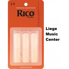 anches saxophone soprano Rico (force 2,5)
