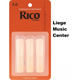 anches saxophone soprano Rico (force 3)