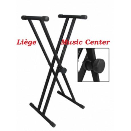 stand double en X pour keyboard, piano ou clavier
