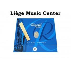 anches saxophone soprano Rigotti Gold (force 2)