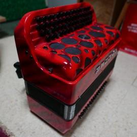 knop-accordeon Hohner Fun Nova II 80 rood