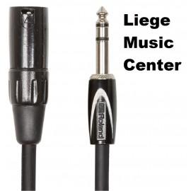 microphone câble XLR male Roland black 3m